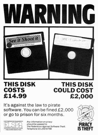 80's Anti-Piracy Ad