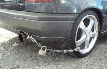 Anti-Theft Auto Pad Lock