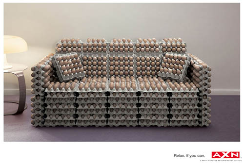 AXN | Sony Ad | Egg Sofa