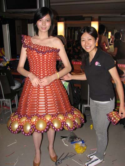 Twisted Balloon Dress