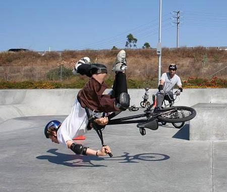 BMX Failed Trick