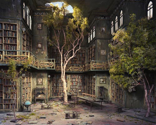 Library Reclaimed By Nature
