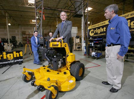 George Bush Stand-on Lawn Mower | Wright Manufacturing