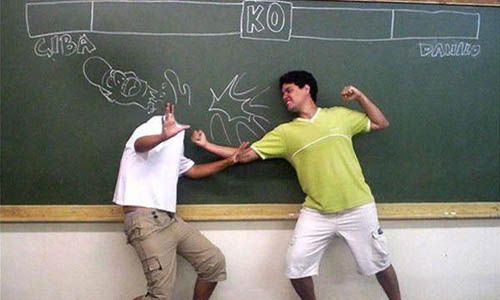 Chalkboard Street Fighter