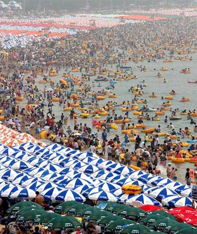 Crowded Haeundae Beach | Pusan, South Korea
