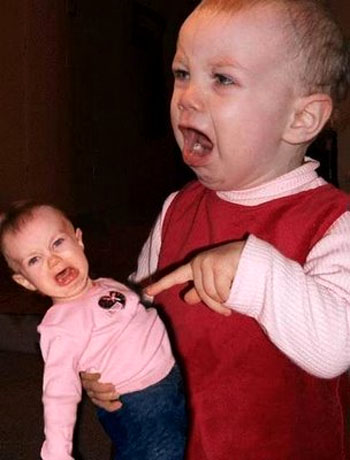 funny pictures of babies crying. Crying Baby Twins