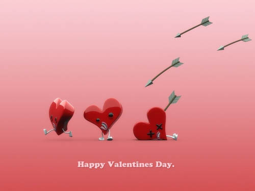 Cupid's Hunt | Happy Valentines Day. c/o plusone. Posted in: Art, Humor,