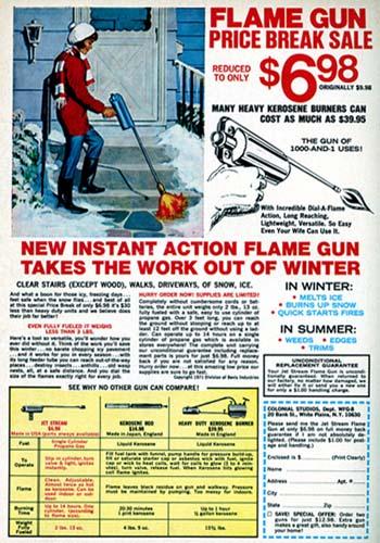 1972 Flame Gun Ad