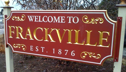 Welcome To Frackville Sign