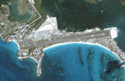 Ariel View of St Maarten Airport