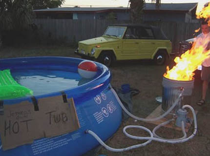 Make-Shift Hot Tub Heater