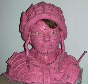 Chewing Gum Soldier Sculpture