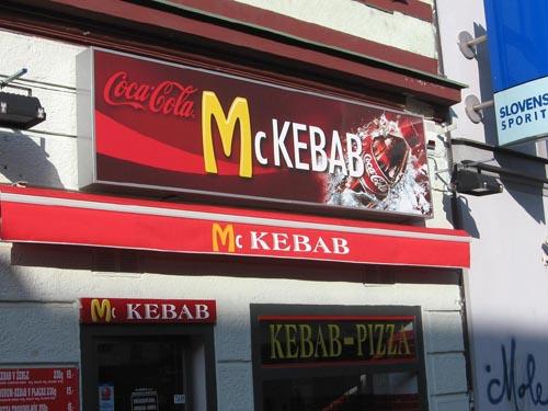 McKebab Restaurant Sign