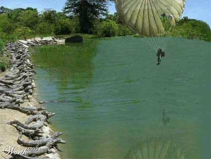 Unplanned Parachute Landing