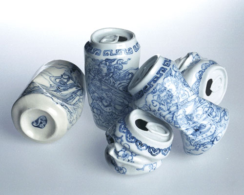 Porcelain China Tea Cans