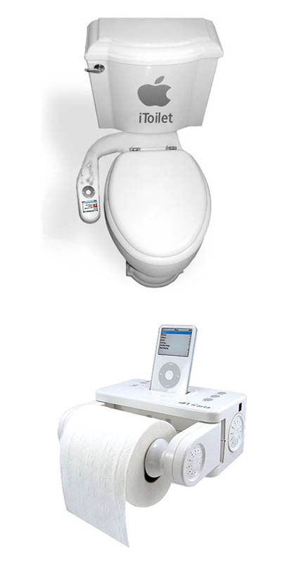 iToilet | iPod Toilet Roll Docking Station