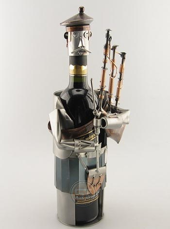 Wine Bottle Holder Figurine