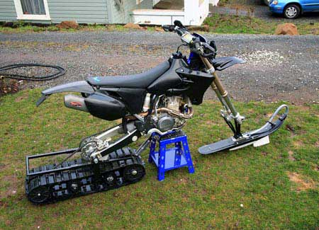 Dirt Bike Snow Conversion