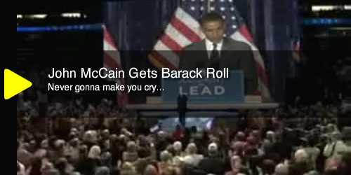 John McCain getting Barack Rolled