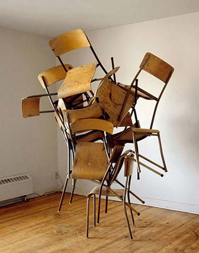 Tangled Stack of Chairs