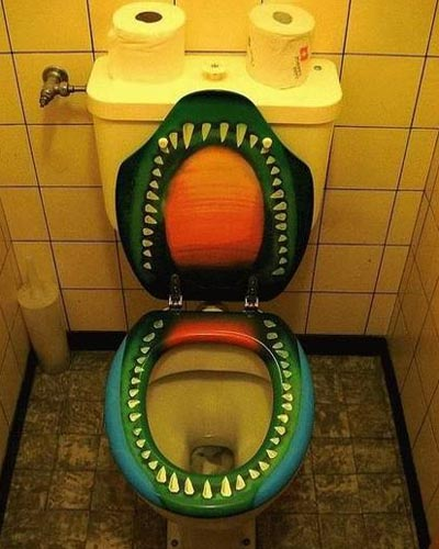 Painted Teeth Toilet Seat