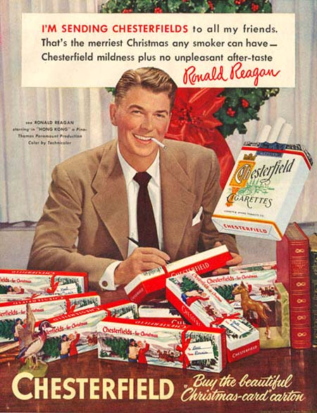 Vintage Christmas Ad with Ronald Regan