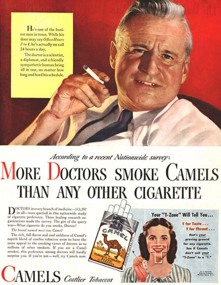 More Doctors Smoke Camels | Vintage Cigarette Print Ad