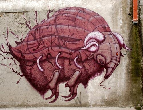 Giant Prehistoric Armadillo Graffiti