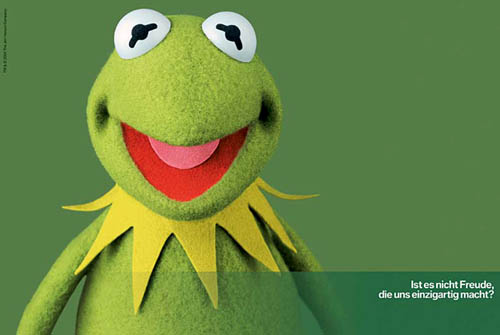 BMW Ad With Kermit The Frog | Is it not joy that makes us unique?