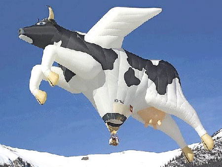 Hot Air Cow Balloon