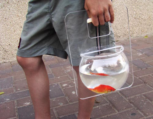 Handbag Style Fish Bowl Carrier