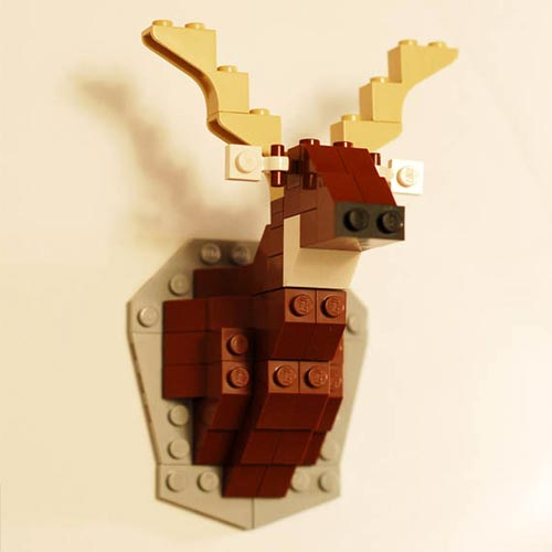 Taxidermy Mounted Deer in Lego