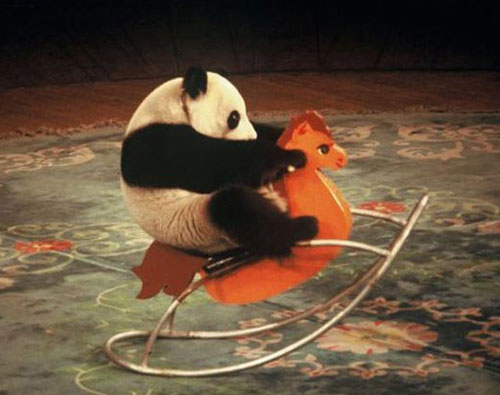 Panda On A Rocking Horse