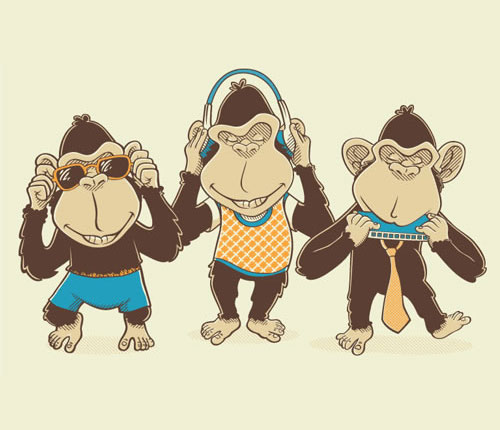 Three Music Monkeys