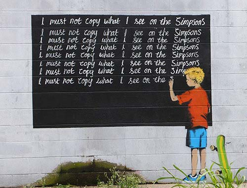 Banksy Bart Simpson Graffiti In New Orleans