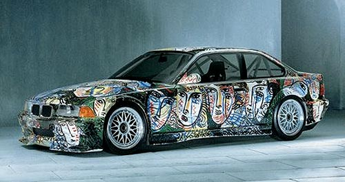Illustrated Faces on Side of BMW M3