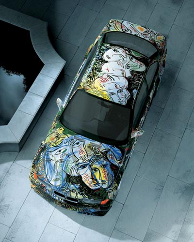 Top View BMW Graffiti