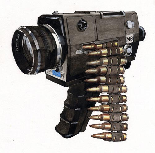 Camcorder Gun Drawing