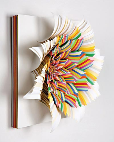 Colored Paper Sculpture