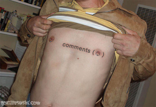 Comments Nipple Tattoo
