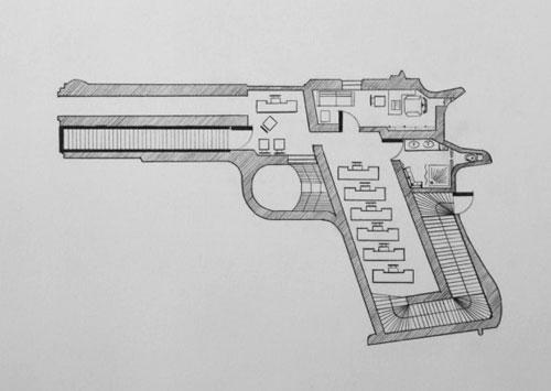 Hand Gun Floor Plan