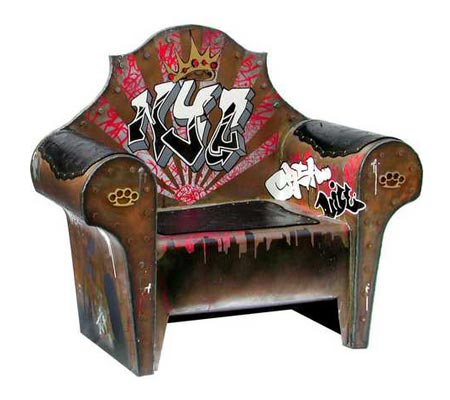 Armchair Graffiti Artwork