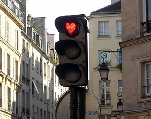 Heart Stop Traffic Light