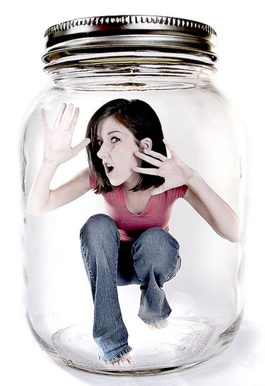 Trapped In A Jar Photo Manip