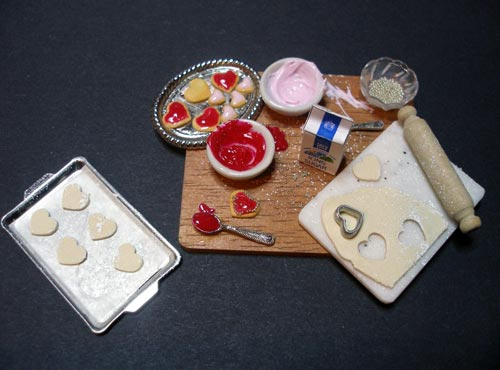 Minature Baking Cookies Sculpture