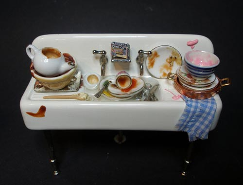Minature Kitchen Sink Sculpture
