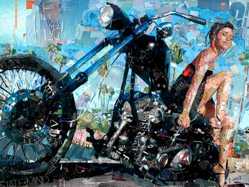 Motorcycle Collage Artwork