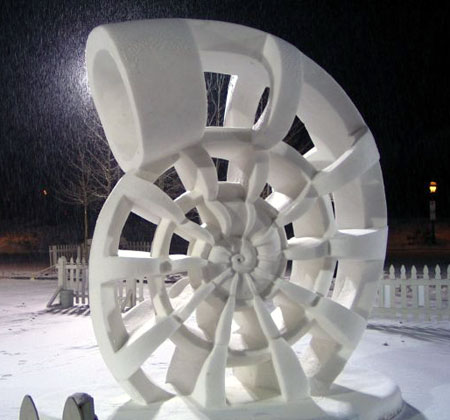 Nautilus Snow Sculpture