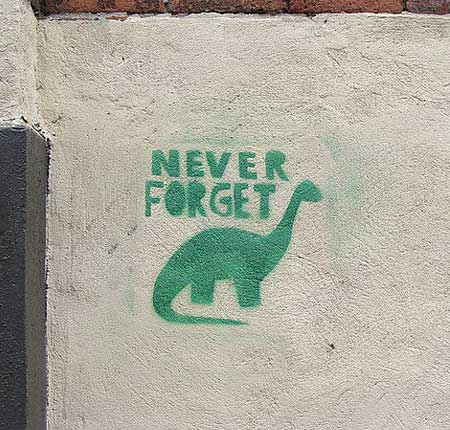 Dinosaur Stencil Painting | Never Forget