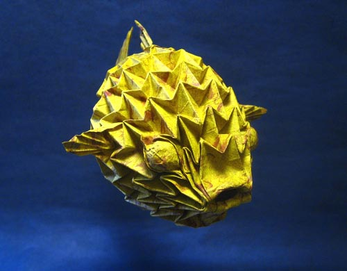 Origami Puffer Fish Sculpture